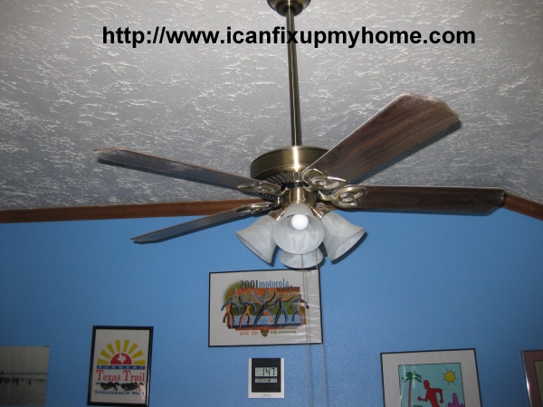 A Hampton Bay Ceiling Fan; photo© Kelly Smith