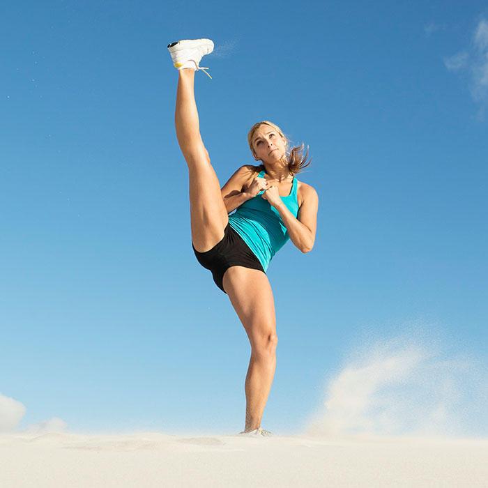 A high leg kick