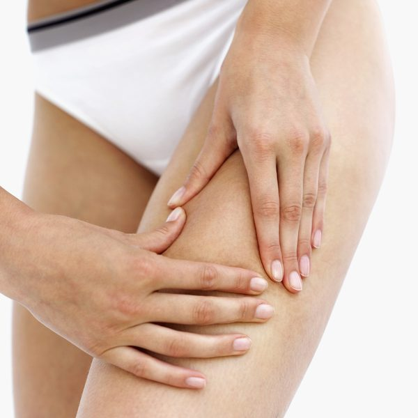 Upper thigh muscle pain from running.