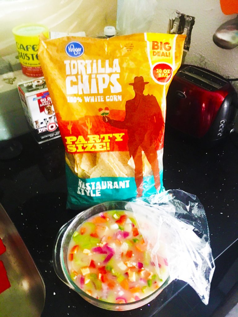 Panamanian-style ceviche and tortilla chips