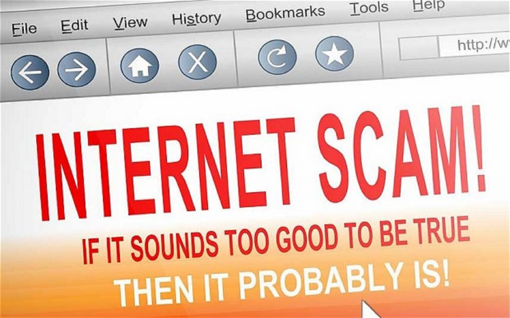 Beware of internet scam and spam