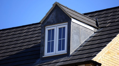 A new roof with a dormer