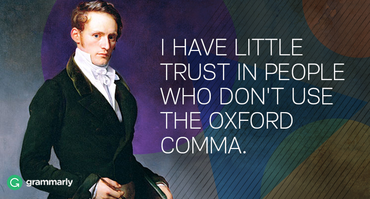 Please use the Oxford comma