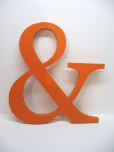 The ampersand, a useful character banned from the alphabet