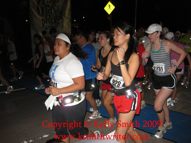 Start of the Houston Half Marathon