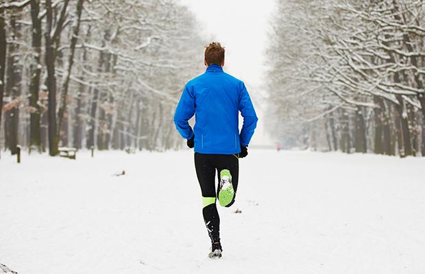 Running in the Winter Snow