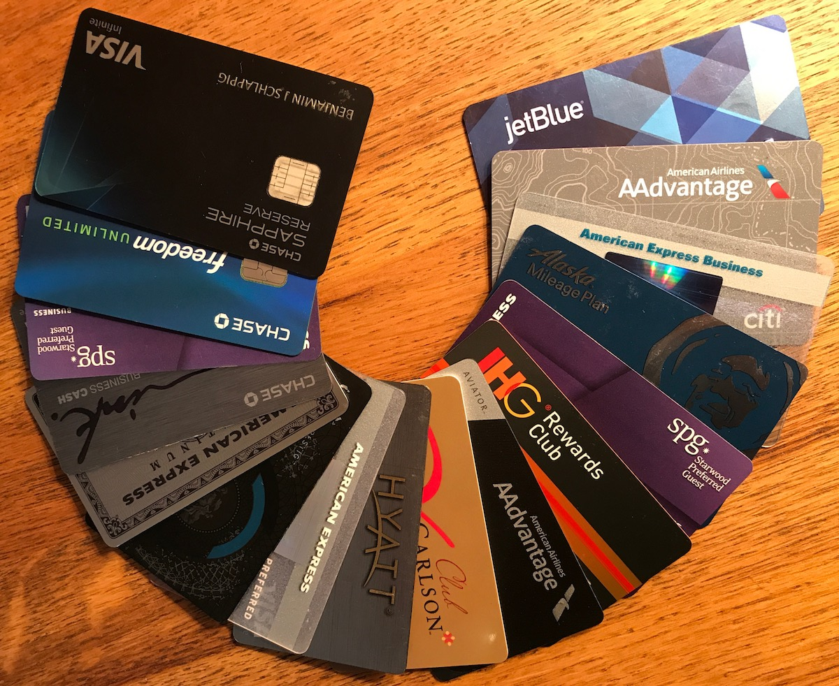 A range of credit cards