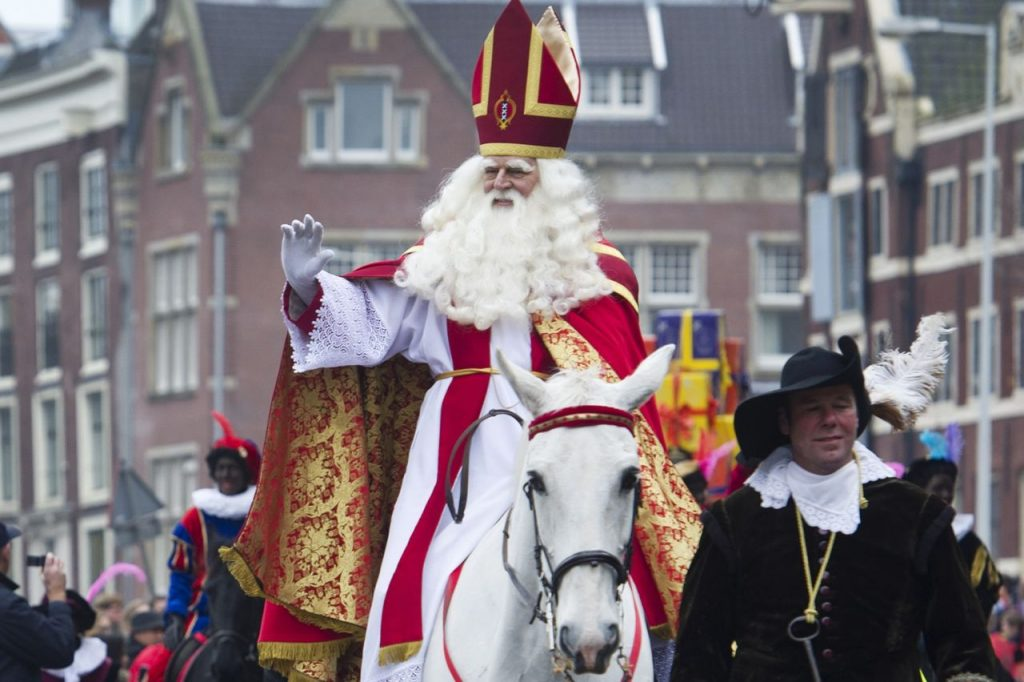 Sinterklaas Arrives in Amsterdam