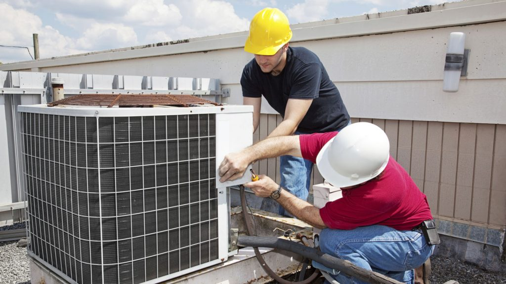 Servicing an HVAC Unit