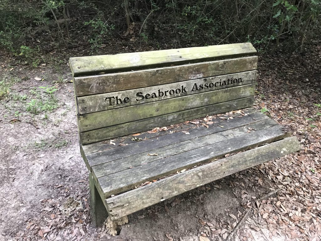 A Park Bench along the Seabrook Hike and Bike Trail System