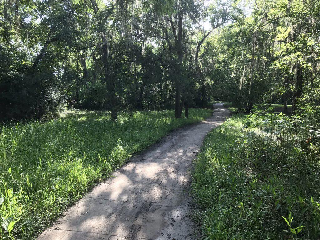 Park trails amble off into the distance.