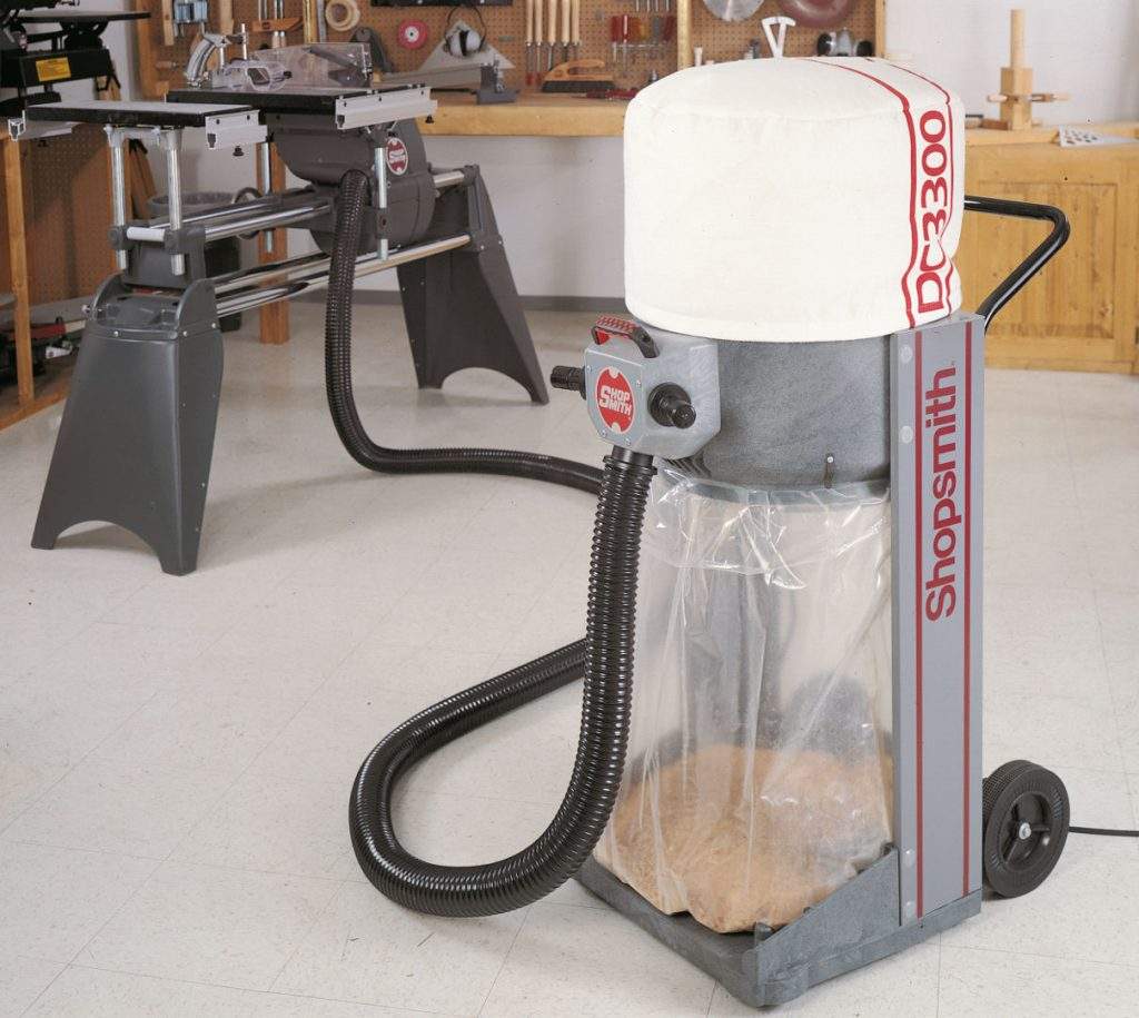 A Shopsmith wood shop dust collector