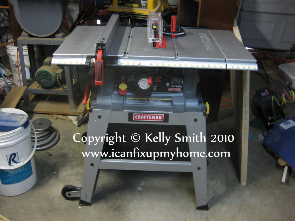 Craftsman woodworking table saw