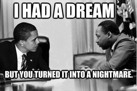 Martin Luther King and Barack Obama