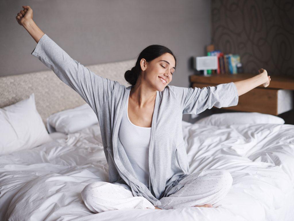 Waking after a restful melatonin sleep