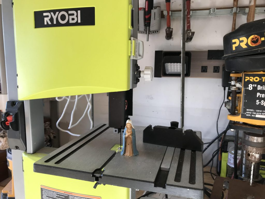 A Ryobi tabletop band saw