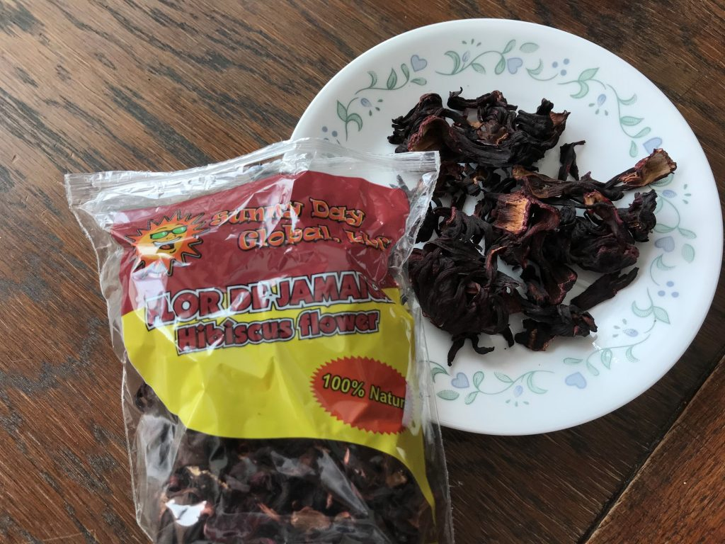 Dried hibiscus flowers for healthy tea