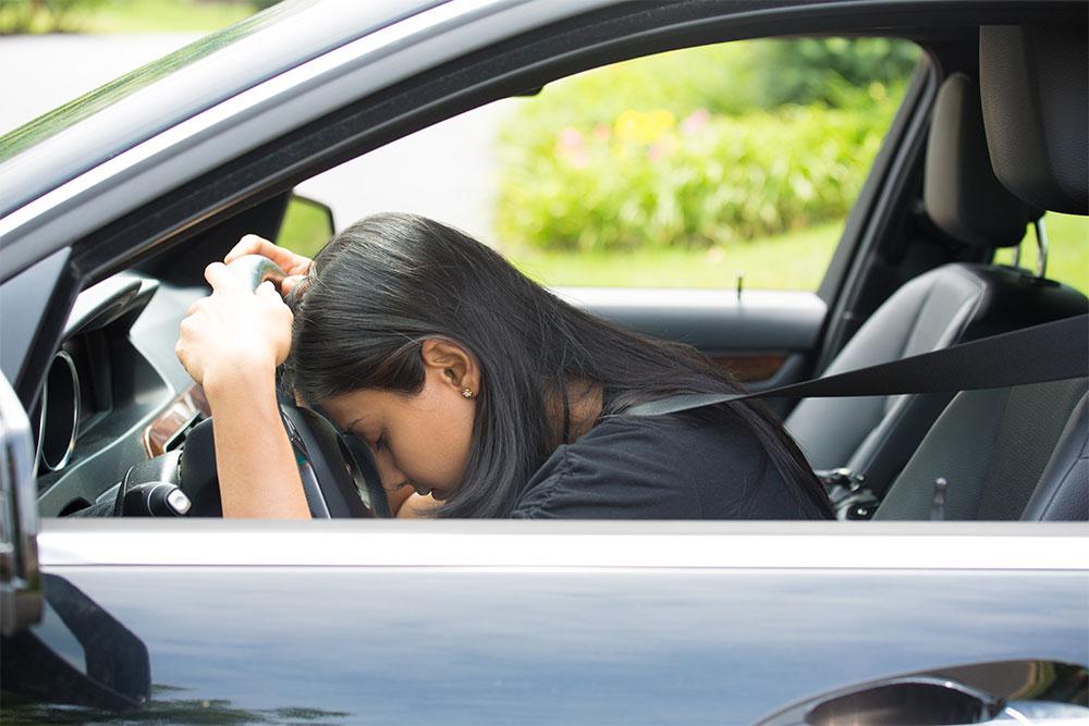 Sleep deprivation -- asleep at the wheel