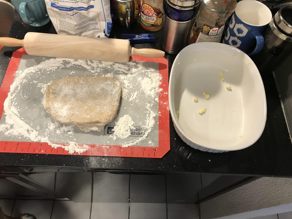 Making dough for the crust