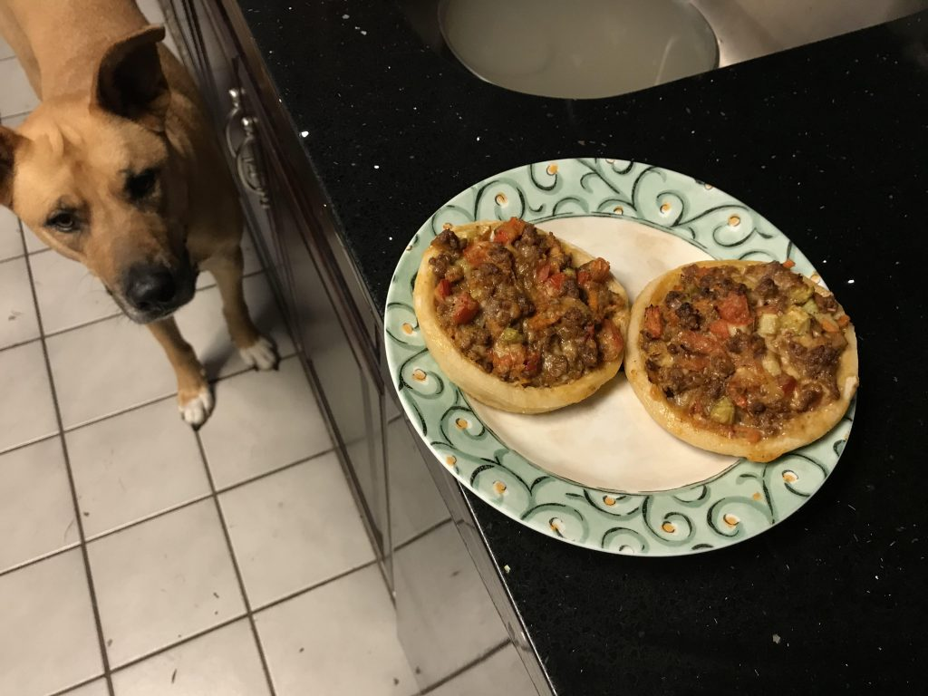 Taco beef and cheese sopes
