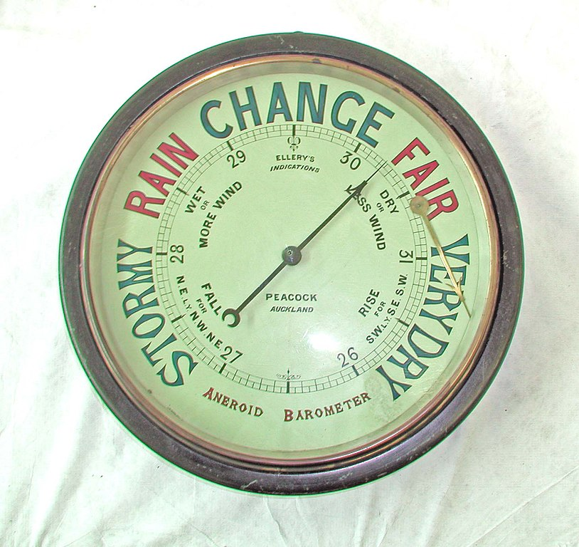 An aneroid barometer
