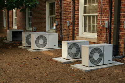 An air conditioner array; photo courtesy Ildar Sagdejev