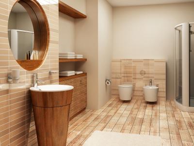 A renovated bathroom; photo courtesy Karlee Wiggins
