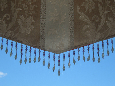 A beaded window treatment, photo courtesy Mr. Thinktank