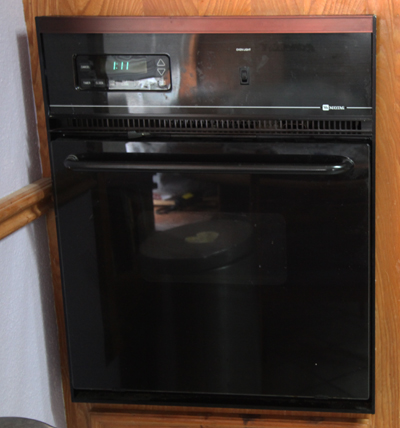 A Black Maytag Oven; photo courtesy Kelly Smith