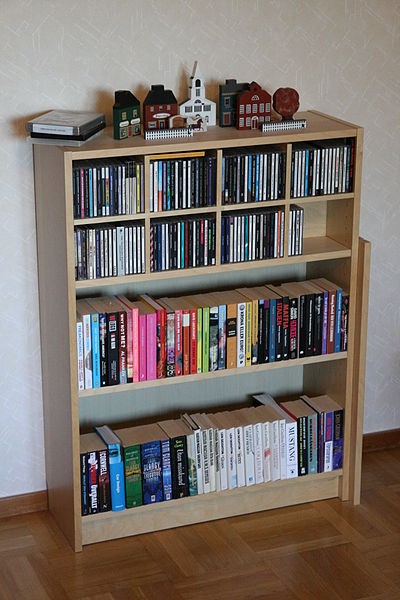 An IKEA bookcase; photo courtesy Magnus Back