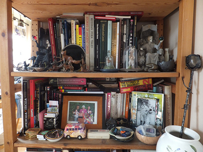 A cluttered cabinet; photo courtesy Josh Andrews