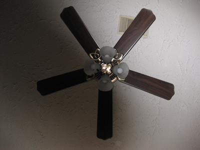 Ceiling fan with light kit; photo © KSmith Media, LLC