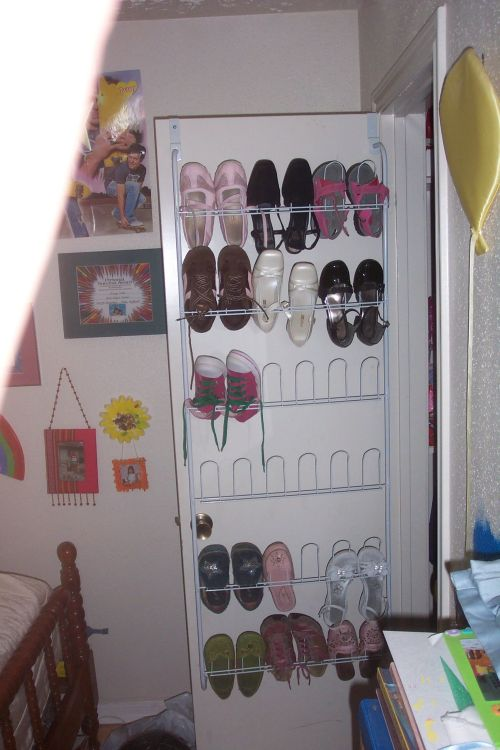 Shoe storage in a girl's room; photo © 2008 KSmith Media, LLC