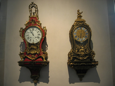Ornate antique wall clocks, photo courtesy Arnaud 25