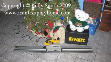 DeWalt Track Saw DWS520 for Christmas, Photo Copyright Kelly Smith