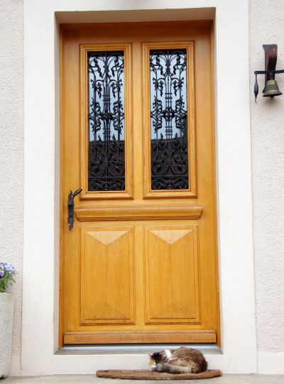 A new front door is easy to install; photo courtesy JLBurguess