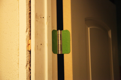 A door hinge; photo courtesy Kelly Smith