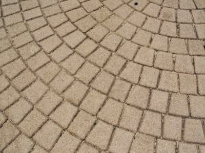 A paver stone driveway; photo courtesy Sarah Harris