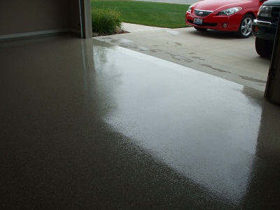Apply an epoxy garage floor finish