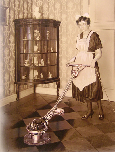 Floor buffing in 1912
