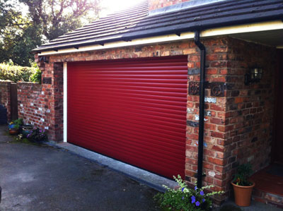 A red roller garage door, photo courtesy Amy_Jackson