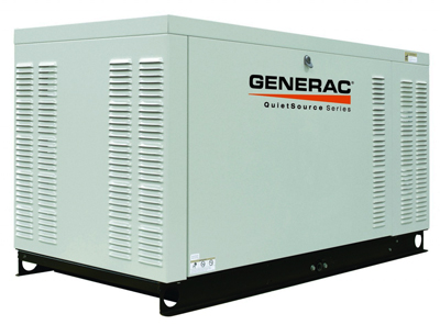 A Generac emergency generator provides electricity during a power outage