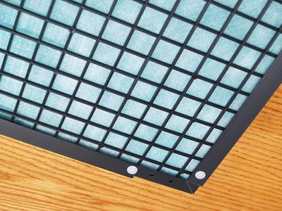 An HVAC air filter