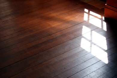 A Hardwood Floor in the Sunlight; Photo by Hotblack