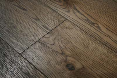 A dark hardwood floor, photo courtesy Wood and Beyond