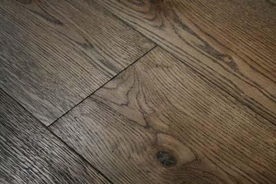 A dark hardwood floor, photo courtesy Wood and Beyond
