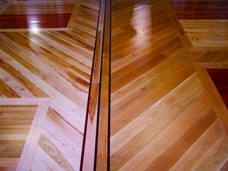 Intricate hardwood floor pattern; image courtesy Perry Beall