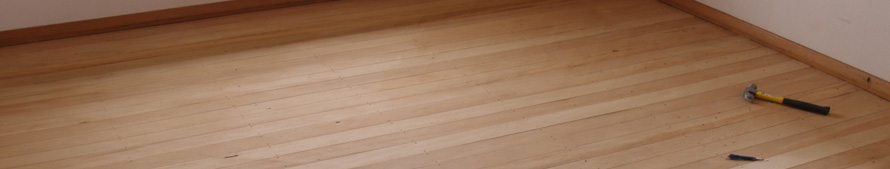 Finishing a hardwood floor; photo courtesy Stug