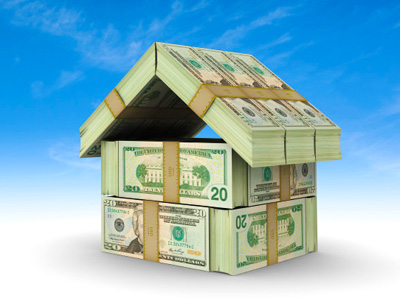 A house built of dollar bills; photo courtesy Chaleigh Glass
