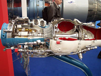 Jet engine with compressor; photo courtesy Stahlkocher